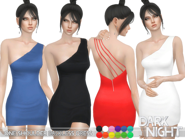 One Shoulder Backless Dress by DarkNighTt