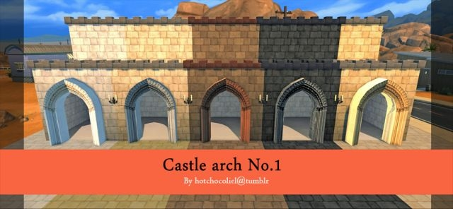 Castle Arch by Hotchocoliel
