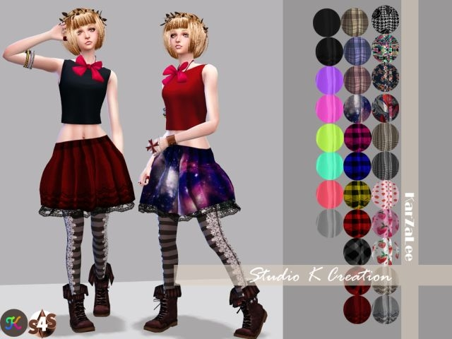 Giruto 11 Circle skirt by Karzalee