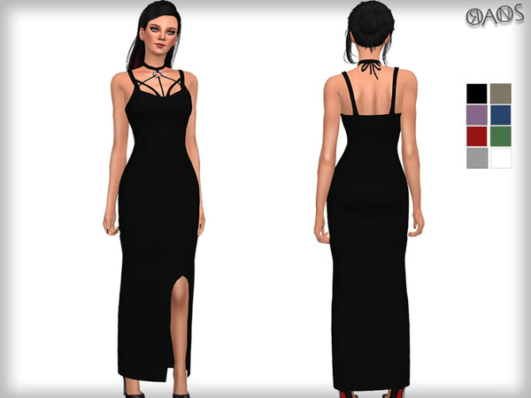 Harness Detailed Maxi Dress by OranosTR