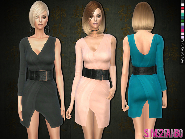 226 - 3d dress with belt by sims2fanbg