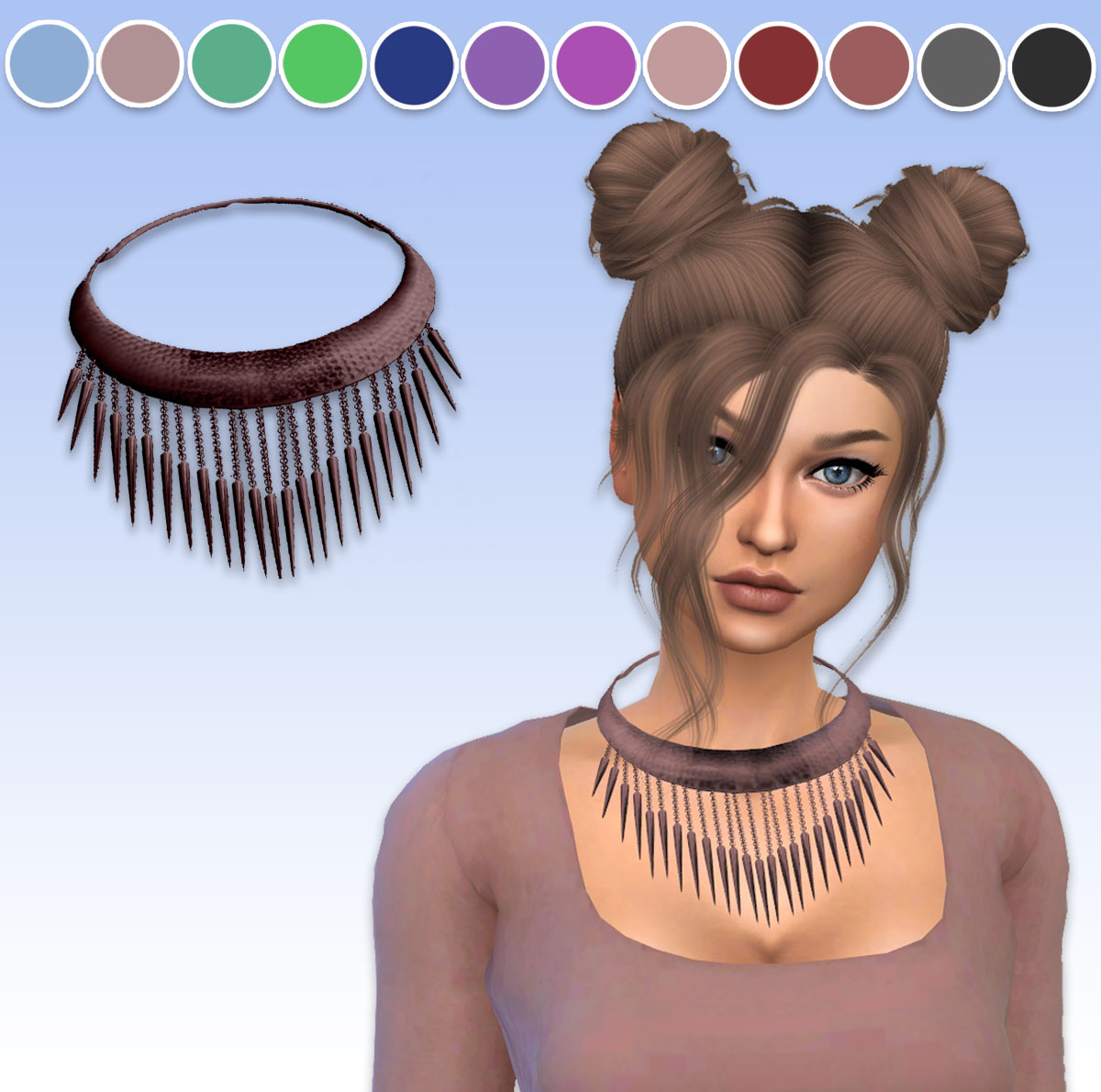 TS3 Spiked Necklace Conversion by ArthurLumiereCC