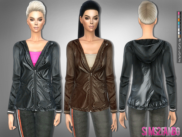227 - Athletic jacket with top by sims2fanbg