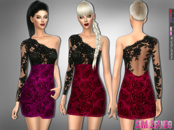 228 - Rose dress by sims2fanbg
