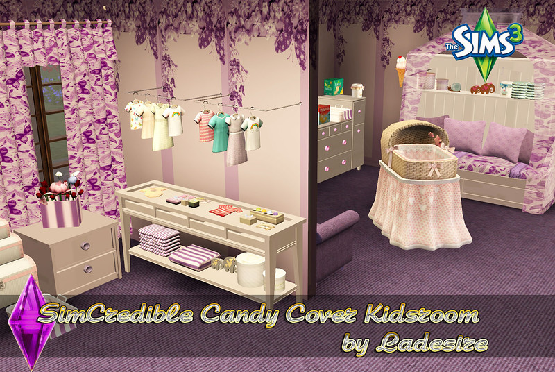 SimCredible Candy Cover Kidsroom by Ladesire