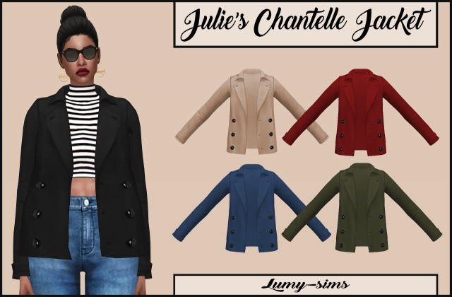 Julies Chantelle Jacket Accessory by lumy-sims