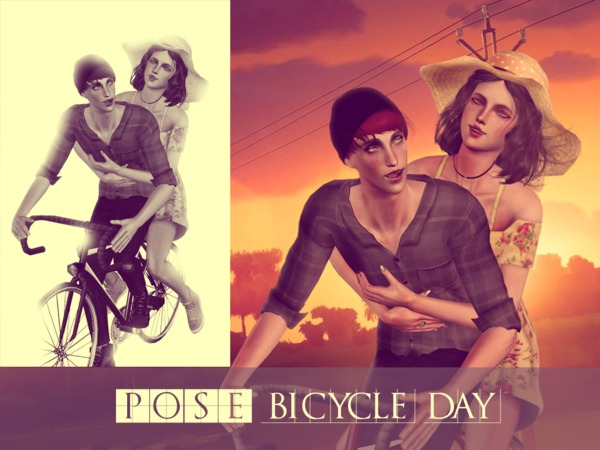 Bicycle Day Poses by MasumiKimiko