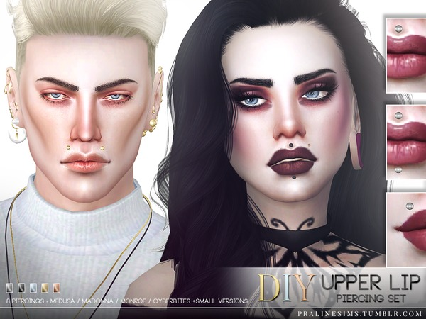 DIY Upper Lip Piercing Set by Pralinesims