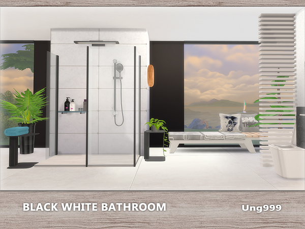 Black White Bathroom by ung999