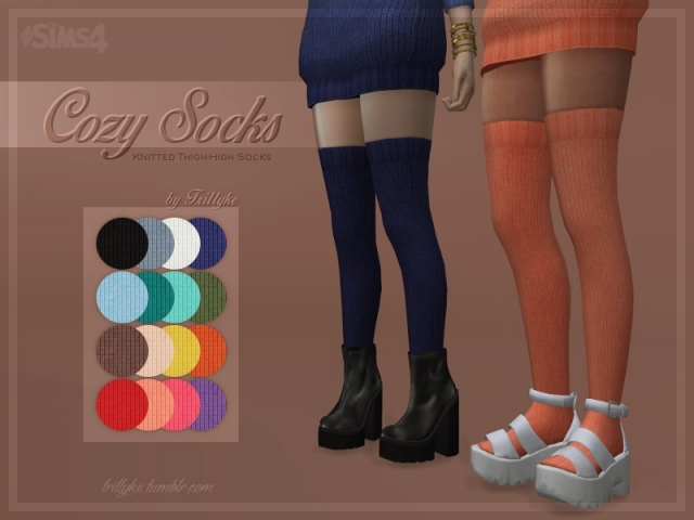 Cozy Sweaters & Thigh-High Socks by trillyke