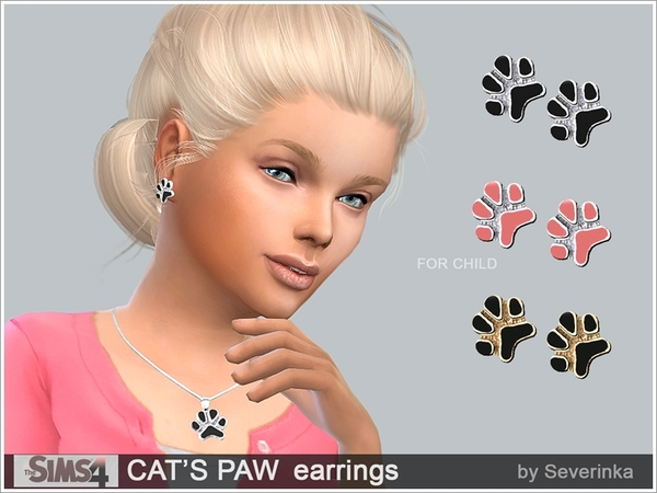 CAT'S PAW earrings by Severinka