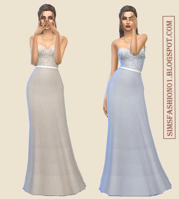Lovely Lace Evening Dresses by SimsFashion01