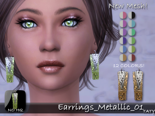 Earrings Metallic 01 by tatygagg