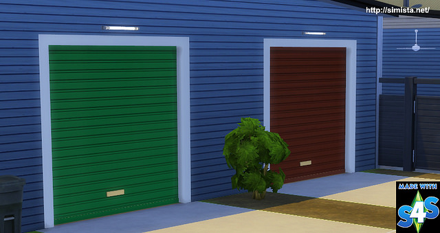 Decorative Garage Door Set by Simista