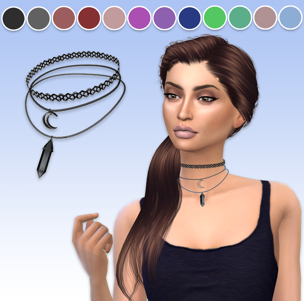 TS3 Aurora Necklace Conversion by ArthurLumiereCC