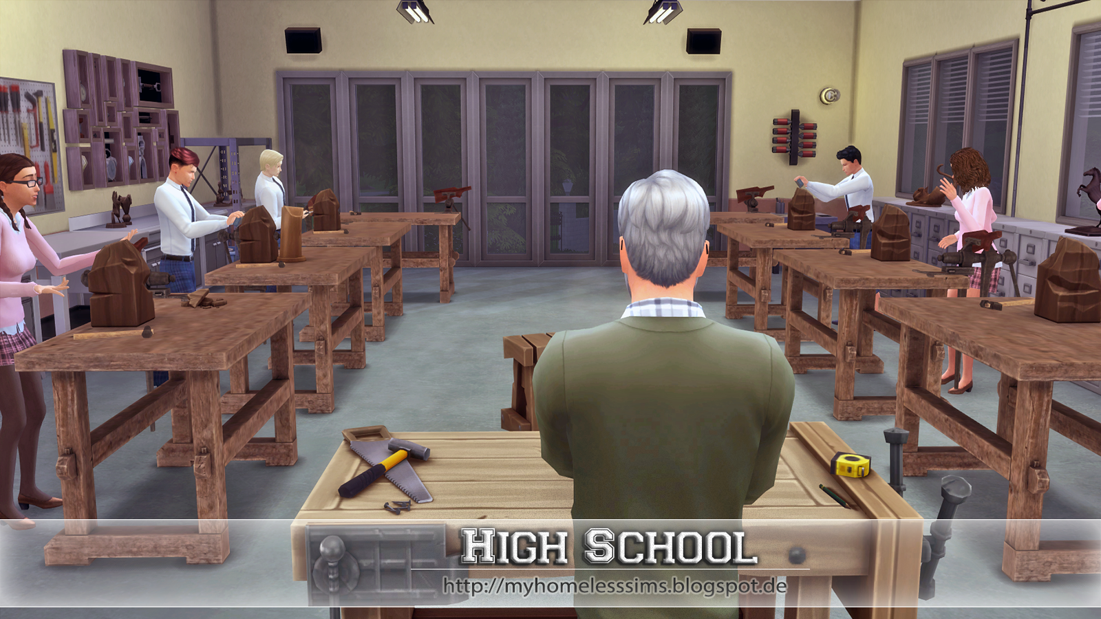 High School by My Homeless Sims