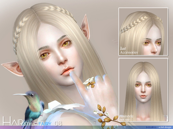 sclub ts4 hair Fairy n8 by S-Club