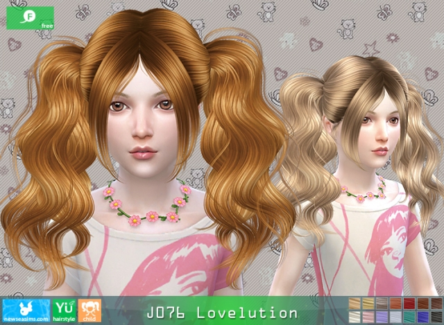 Hairstyle J076 Lovelution Child by Newsea