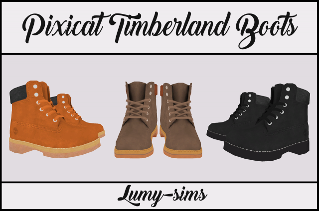 Pixicat Timberland Boots by lumy-sims