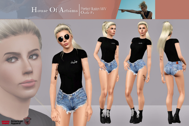 Perfect Illusion M/V  Outfit #1 by ArtSims