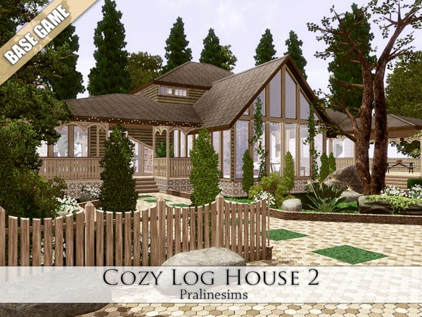 Cozy Log House 2 by Pralinesims