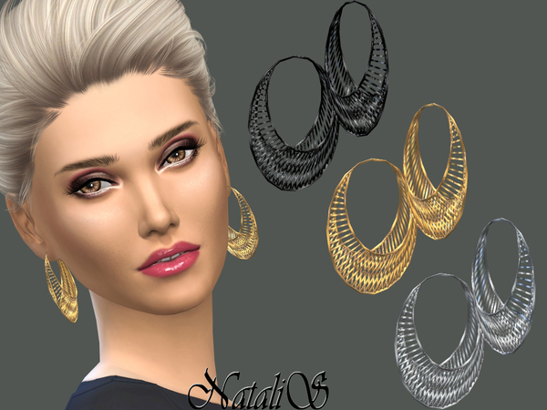 NataliS_Mesh Hoop Earrings
