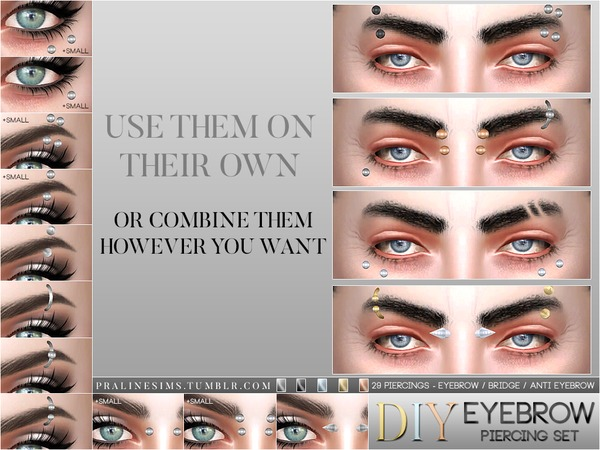 DIY Eyebrow Piercing Set by Pralinesims