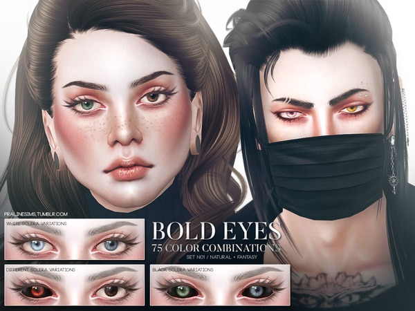 Bold Eyes Set N01 by Pralinesims
