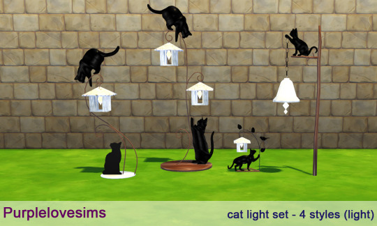Cat Light Set by PurpleLoveSims