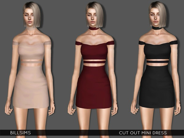 Cut Out Mini Dress by Bill Sims