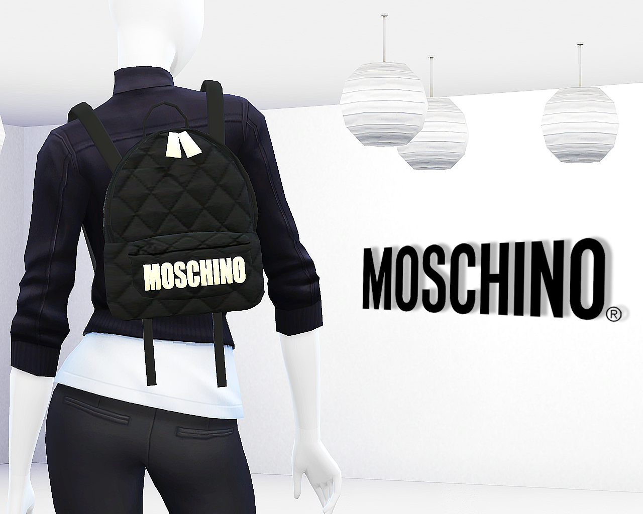 Moschino Quilted Fabric Backpack by MrAntonieddu