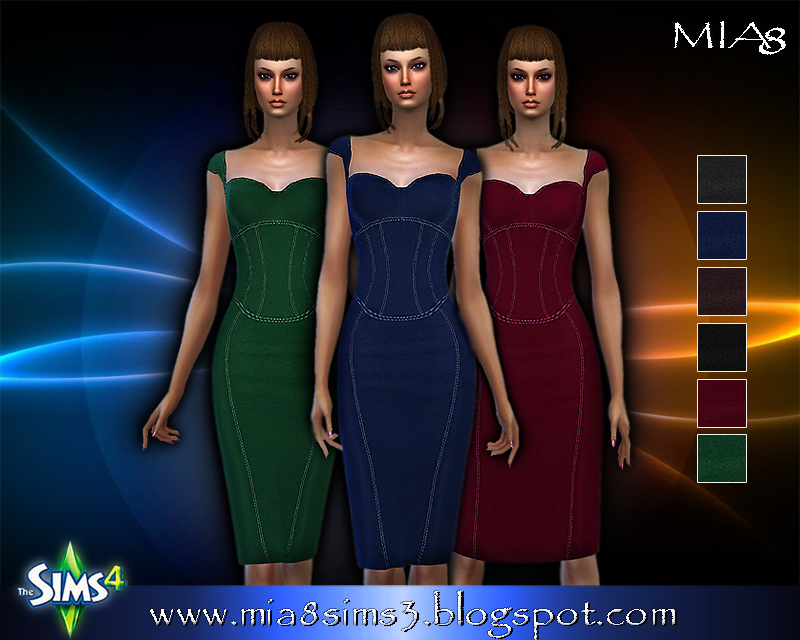 A woman's dress (6 colors) by Mia8