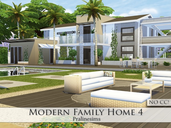 Modern Family Home 4 by Pralinesims