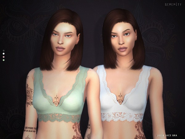 Julia Lace Bra TOP+ACC Set by serenity-cc