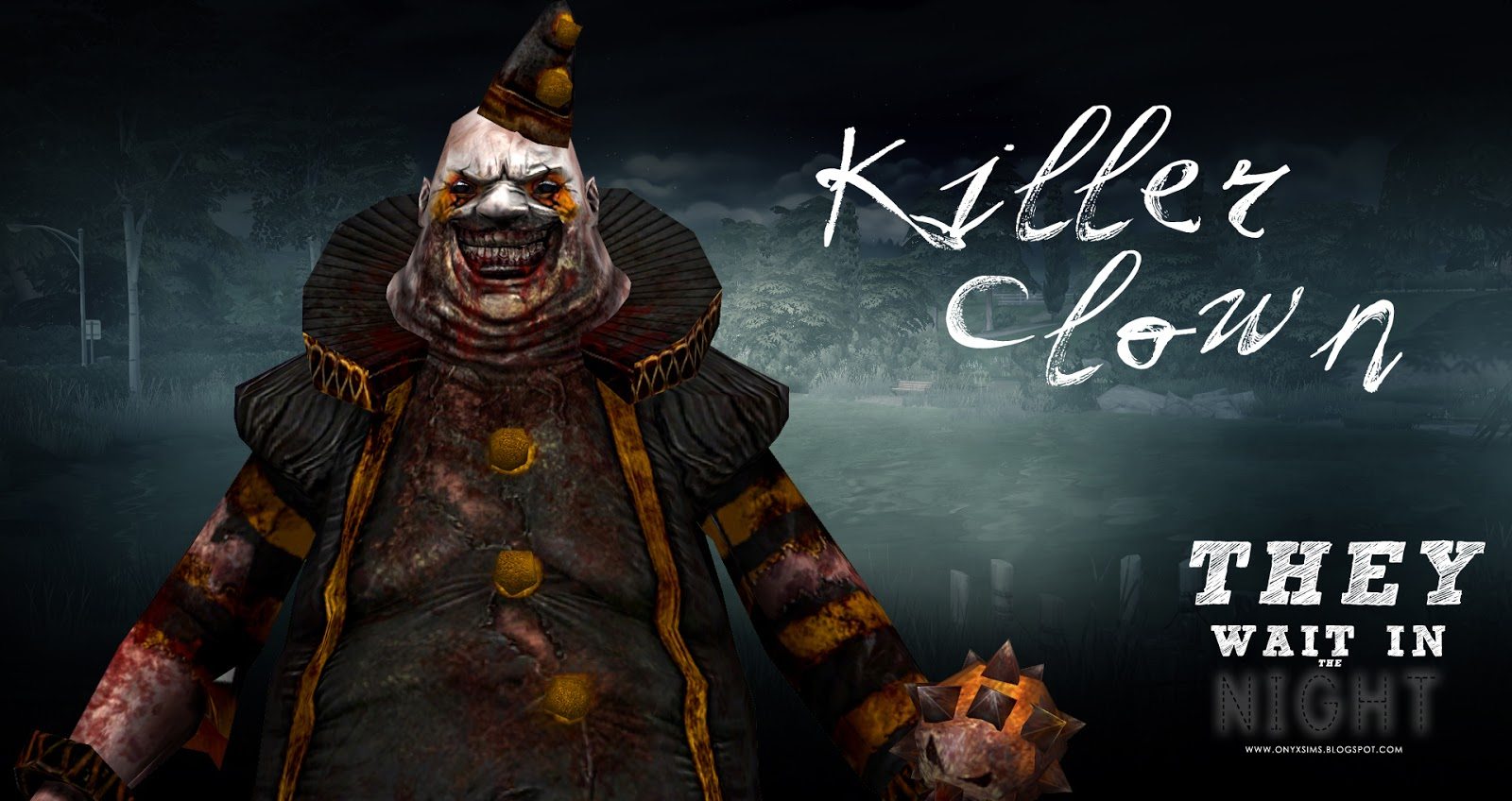They Wait At Night Killer Clown and Sister Decor by KiaraRawks