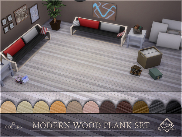 Modern Wood Plank Set by Devirose