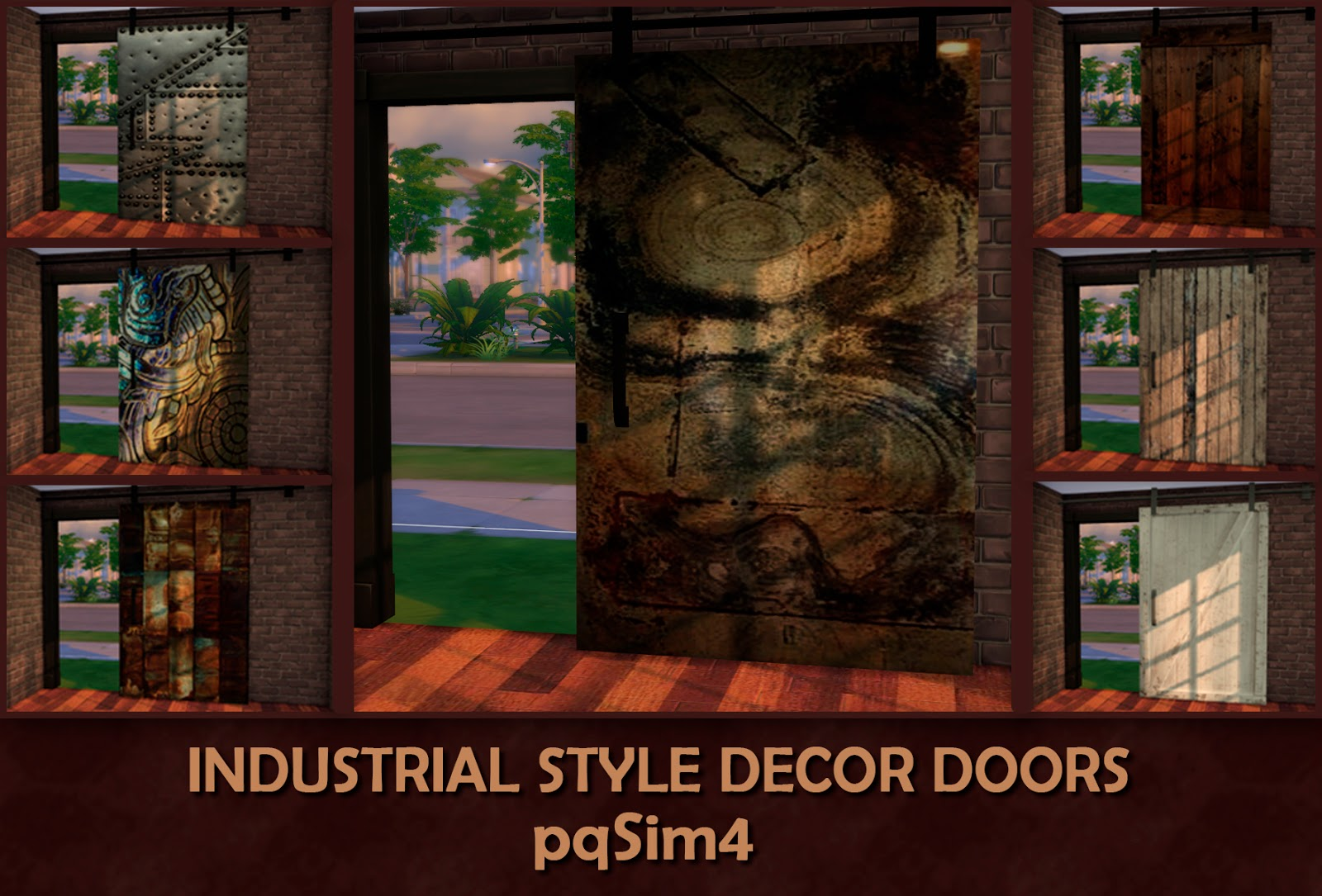 Decorative Industrial Doors by pqSim4