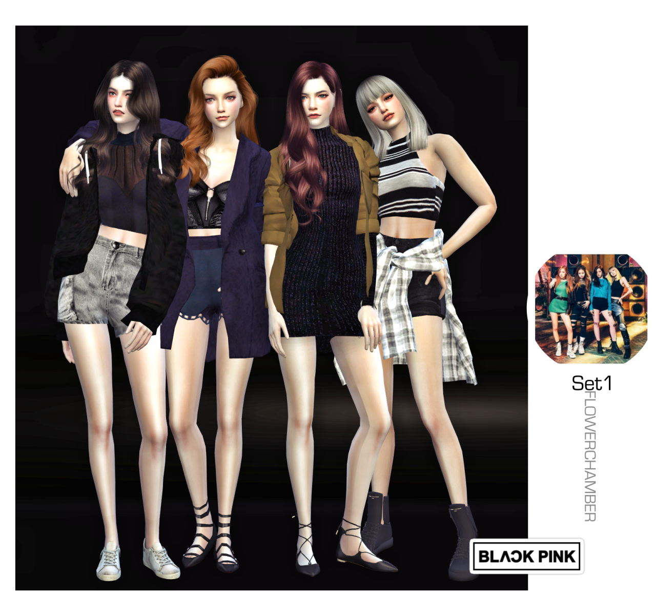 BLACKPINK POSES SET by flowerchamber