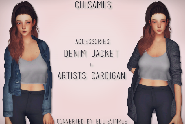 Denim Jacket + Artists Cardigan (by Chisami) by EllieSimple