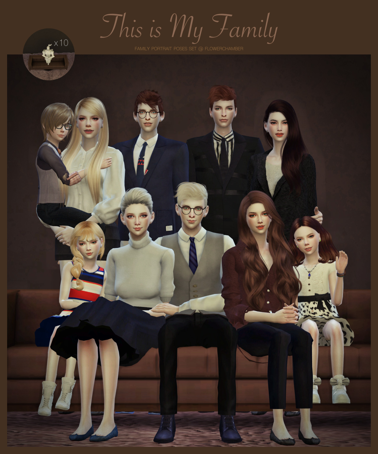 FAMILY PORTRAIT POSES SET by flowerchamber