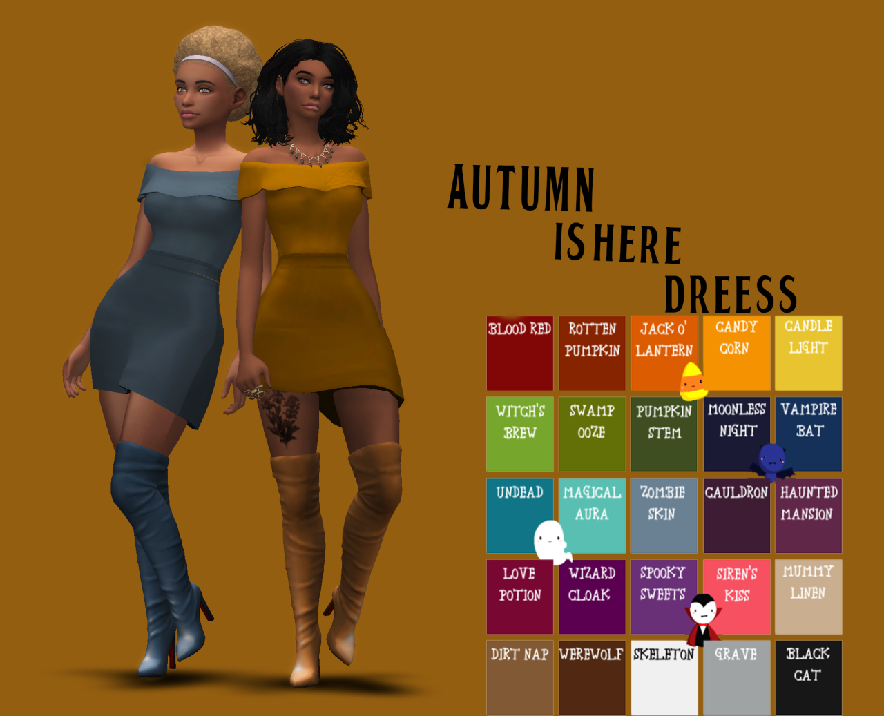 Autumn Dress by DaySims