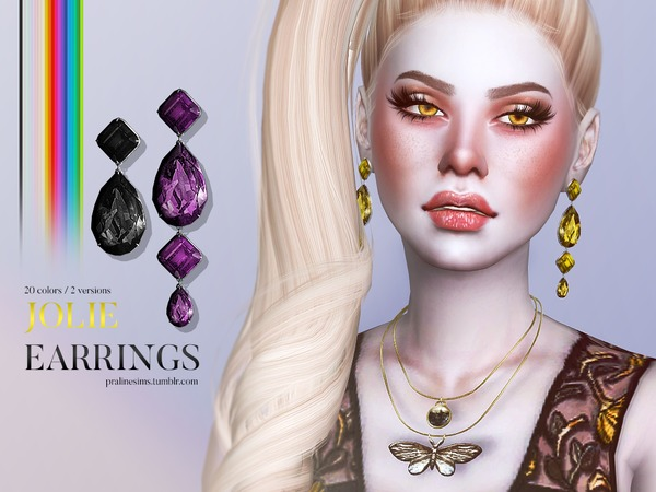 Jolie Earrings by Pralinesims