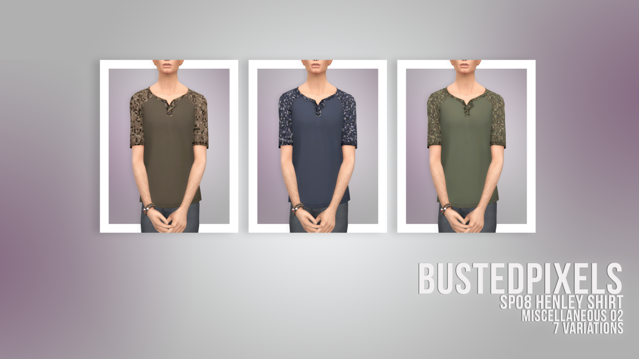 Henley Shirts by BustedPixels