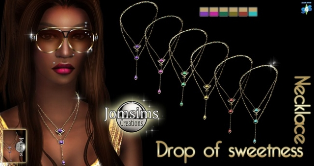 Drop Of Sweetness necklace  by JomSims