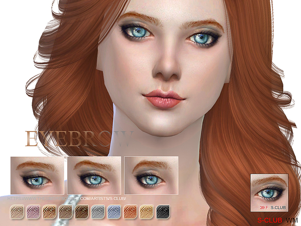 S-Club WM thesims4 Eyebrows 39F
