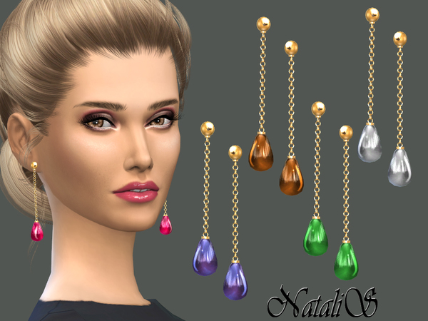 NataliS_Teardrop cabochon earrings
