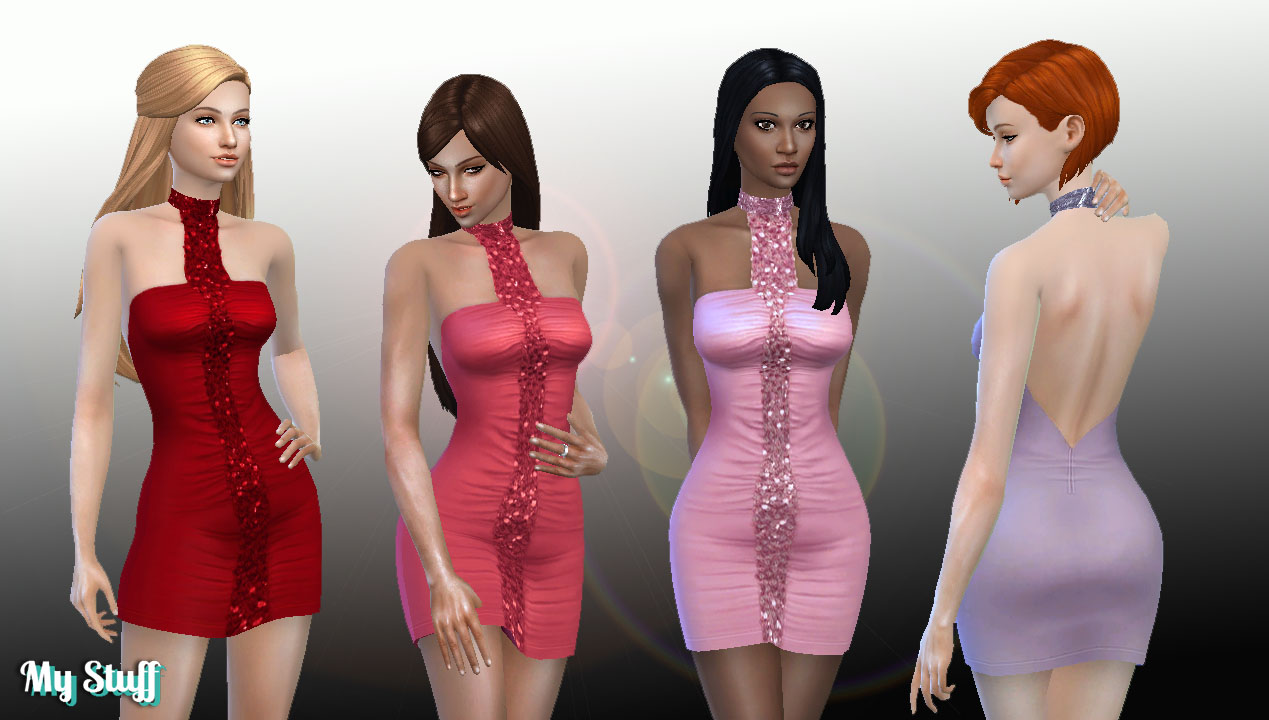 TS2 Night Life Dress Conversion by Kiara24