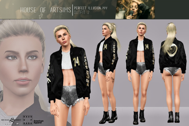 Perfect Illusion M/V  Outfit #2 by ArtSims