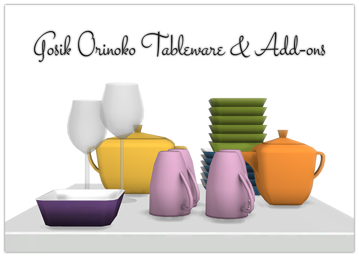 Orinoko Dishes plus Add-Ons by 13Pumpkin31