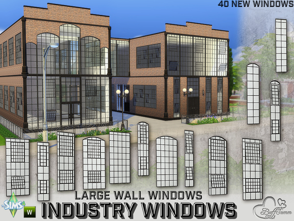 Industry Windows for Large Wall Size by BuffSumm